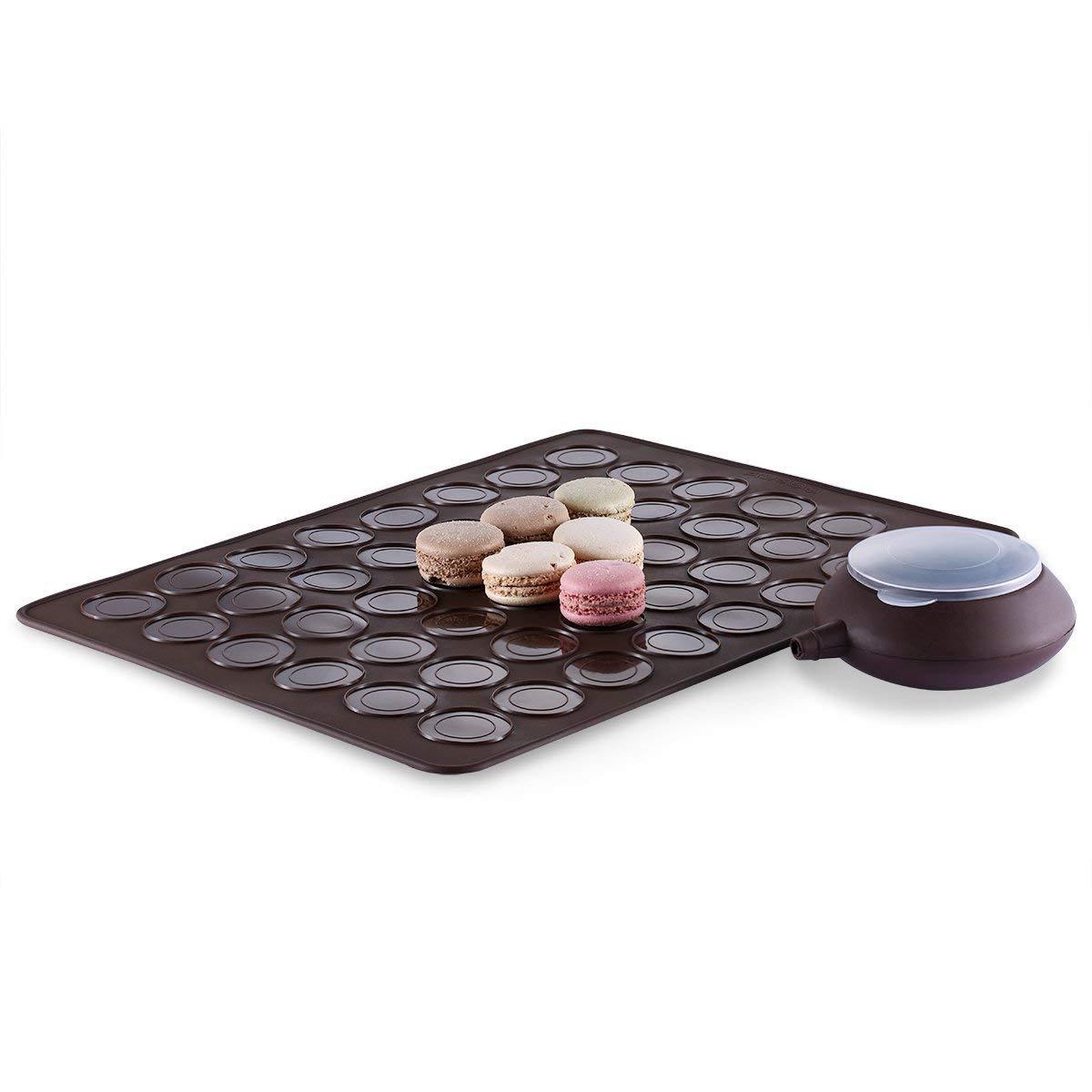 Silikon-Backmatte großes doppeltes mit Seiten versehenes Macaron Makronen Kits