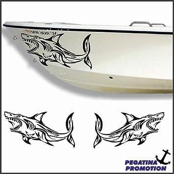 2 mal Hai Tribal Haifisch Aufkleber aus Hochleistungsfolie - viele ...