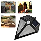 Solario Bright Solar Power Outdoor LED Light - Motion Sensor Activated Outside Wall Security LED Light - No Tools Required, Peel & Stick - Weatherproof - For Entrance, Deck, Porch, Patio, Driveway (1)