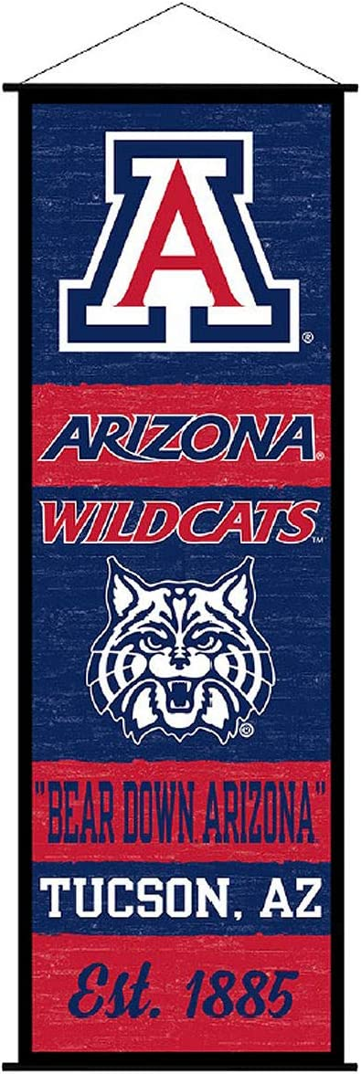 Arizona Wildcats Banner and Scroll Sign