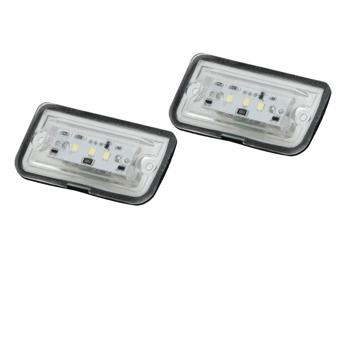 ECD Germany 2 Pezzi Luci Targa a LED Registrazione 12-14V per Auto Colore Bianco Puro 6000K LED SMD 3528