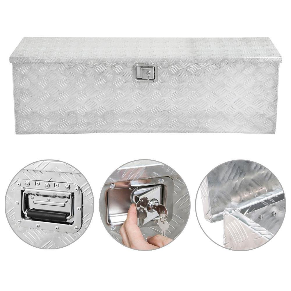 go2buy 49x15x15'' Aluminum Truck Tool Storage Box with Lock