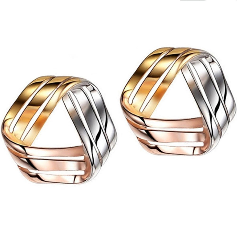 925 Sterling Silver Love Knot Earrings Tricolor 3-Tone Stud Fashion Jewelry for Teens Girls Women