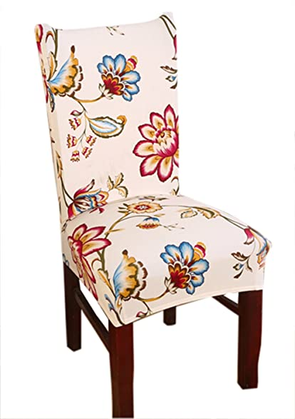 Stretch Removable Washable Short Dining Chair Cover Protector Seat Slipcover 9