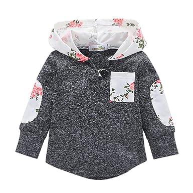 K-youth Sweat Shirt Sudadera con Capucha para Niños Sudadera Niña Ropa Bebé Niños Manga Larga Blusas Bebe Niño Bolsillo 2018 Camiseta para Niños: Amazon.es: ...