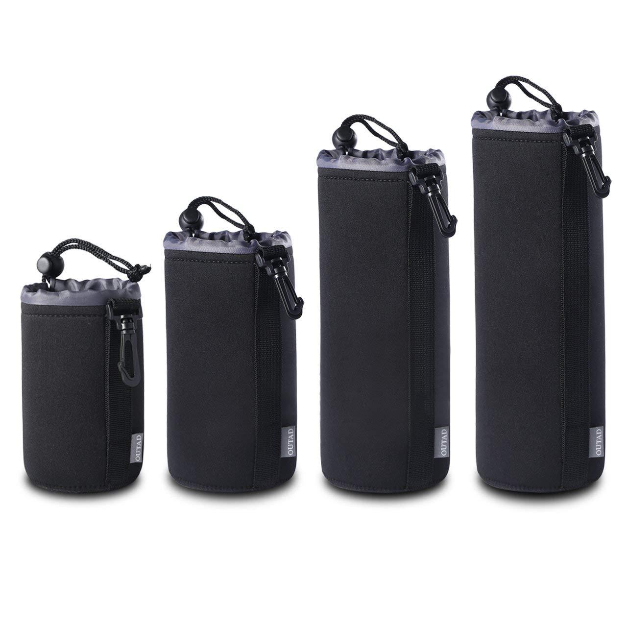 fFRtprintse Lot de 4 Ensemble de Pochette de Protection en n/éopr/ène /épais pour OUTAD OUTAD pour objectifs Reflex num/ériques pour Canon pour Nikon pour Pentax pour Sony