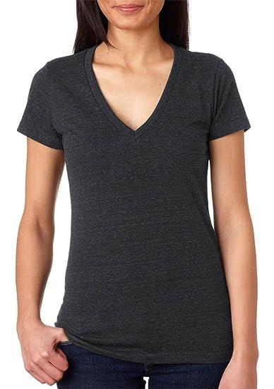 11b062dd6 Bella + Canvas - Women's Triblend Deep V-Neck Tee - 8435 at Amazon Women's  Clothing store: