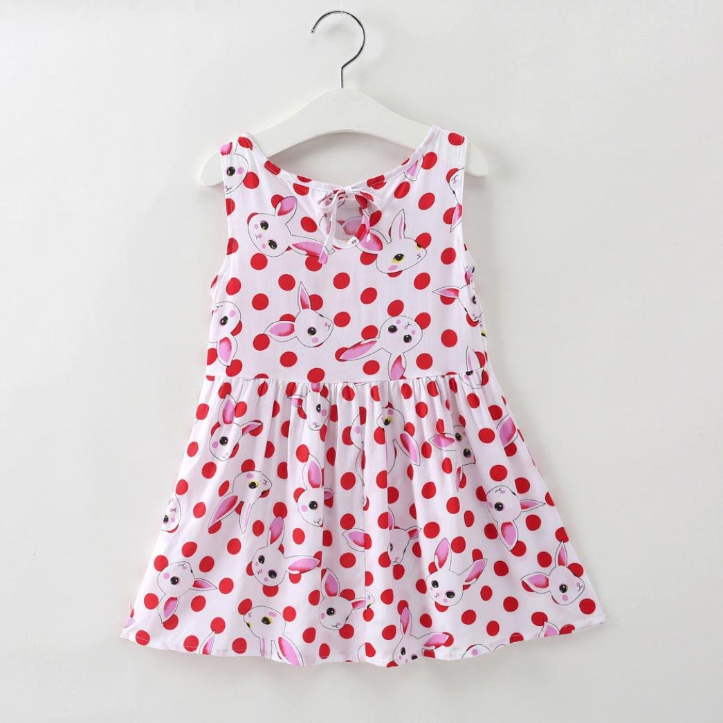 Amazon.com: Jarsh Dress for Baby Girls, Creative Cartoon Cartoon Rabbit Fruit Printed Sleeveless Princess Dresses: Clothing