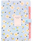 iToolai Accordion Folder for School and Office, A4 Letter Size, 6 Pockets (Blue Floral)