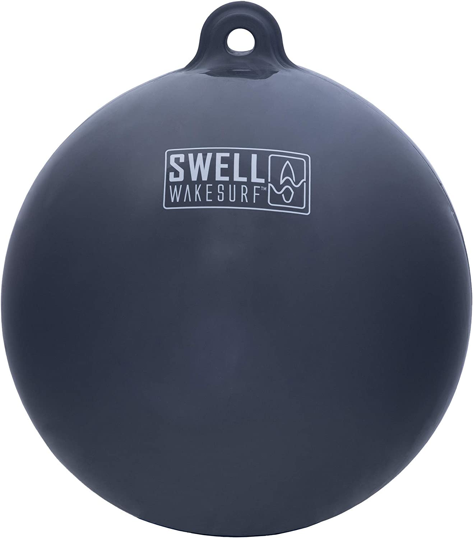 SWELL Wakesurf - Big Bumper Ball - Inflatable Raft Tie-Up Boat Fender Buoy - Grey