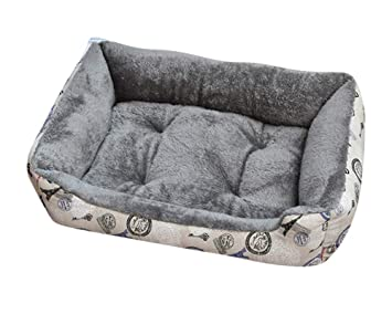 GUOCU Cama para Perro Lavable con Almohadas Sofá para Mascotas Lavable Rectangular Canasta de Mascotas Conjunto