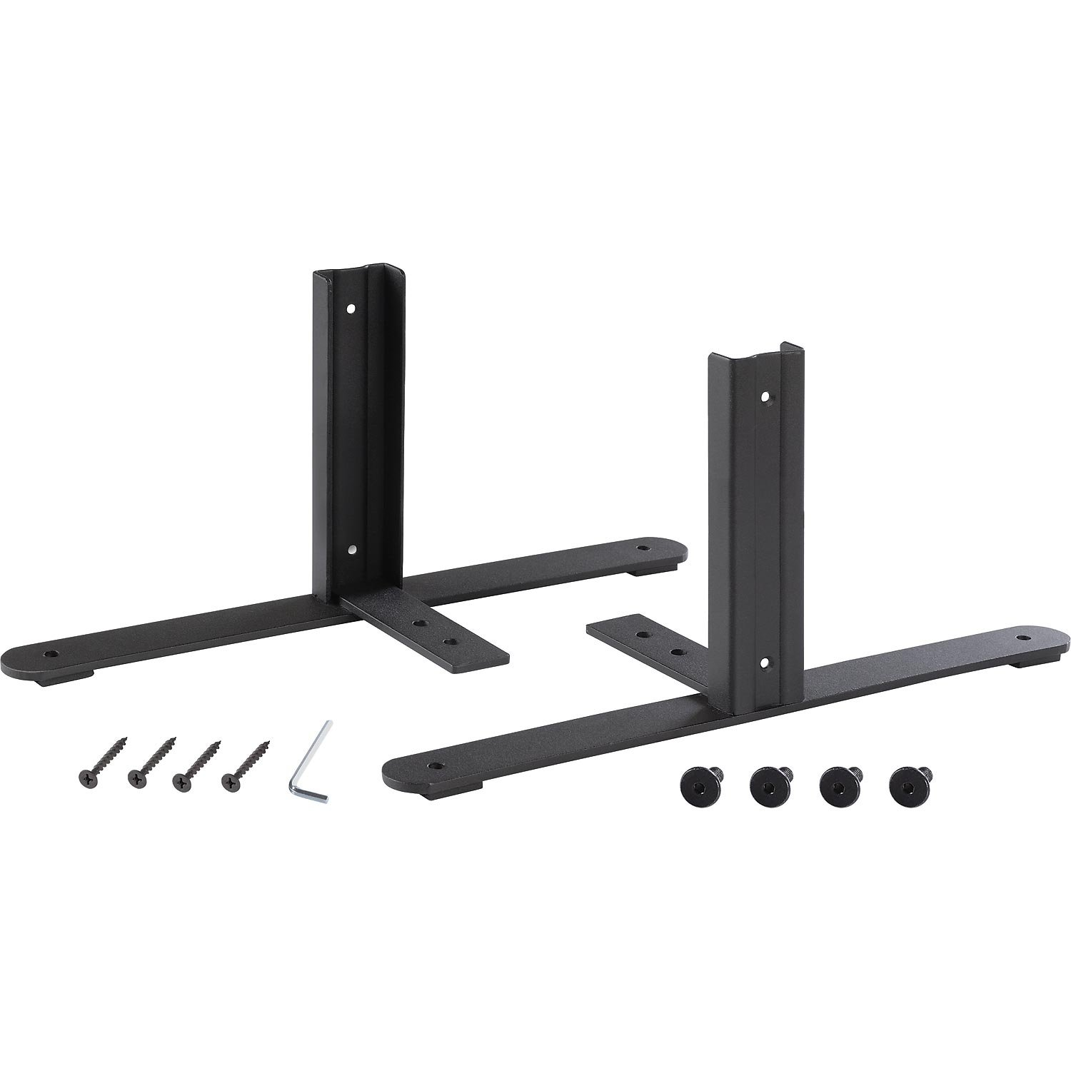 8''H T-Leg Bracket for Office Partition Panels, Black (1 Pair) by Global Industrial
