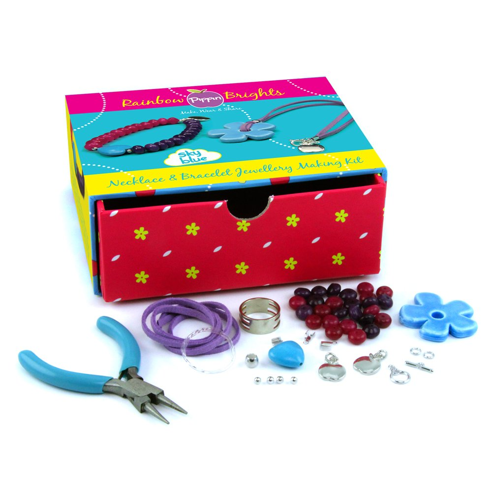 Sky Blue Pipkits Rainbow Brights Necklace and Bracelet Kit, RRP /£19.99
