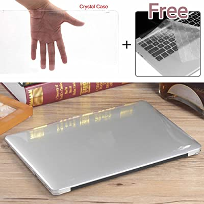 """Sygrand(TM) Hot Glossy Crystal Clear Hard Plastic Laptop Case + Keyboard Cover for Macbook Air Pro Retina 11"""" 12"""" 13"""" 15"""""""