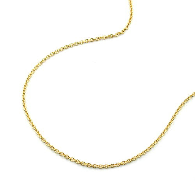 Latotsa 9 karat 375 Gelbgold Gold dünne Ankerkette Kette Halskette Anker Goldkette Schmuck LA511015