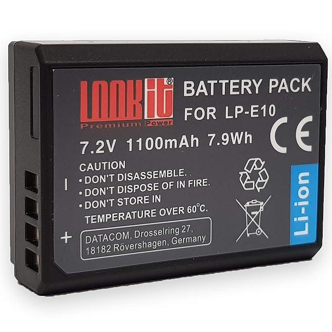 2x batería 850mah USB Cargador para Canon EOS 2000d 4000d