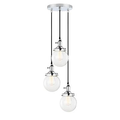 Pathson 3 Luminaire Suspension Vintage Industrielle E27 Eclairage