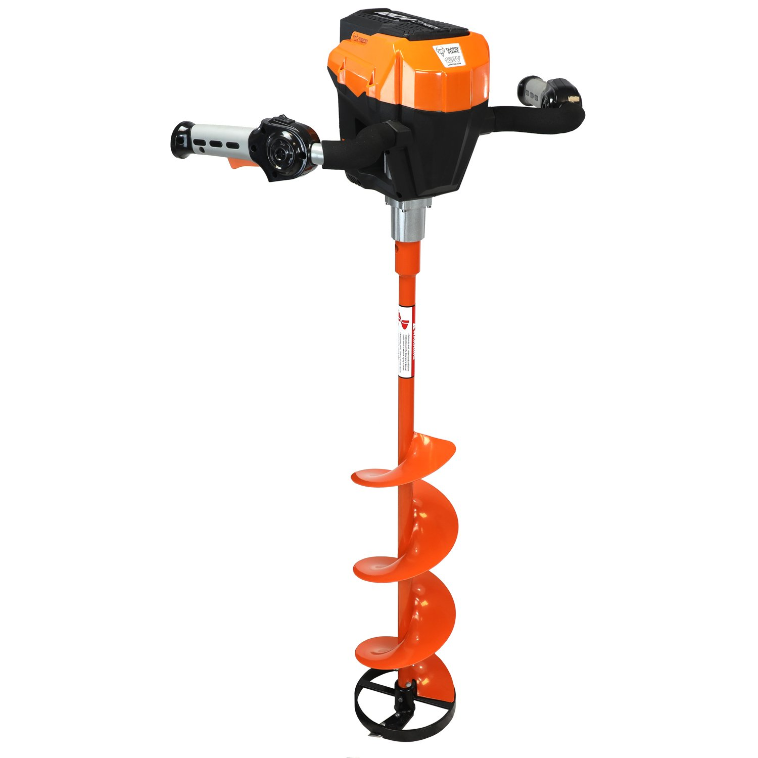 Trophy Strike 120V Ice Auger 2017 Version 120V Lithium Ion Battery Ice Auger - Everything You Need to Start Drilling!