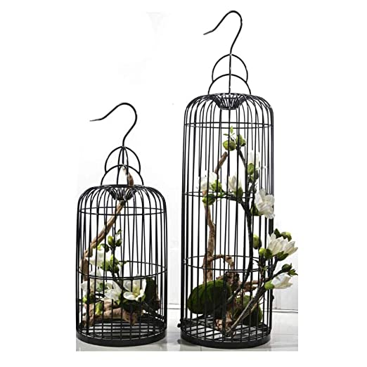 jaula HLF- Soporte de Flores pájaros Vintage de Hierro Forjado ...