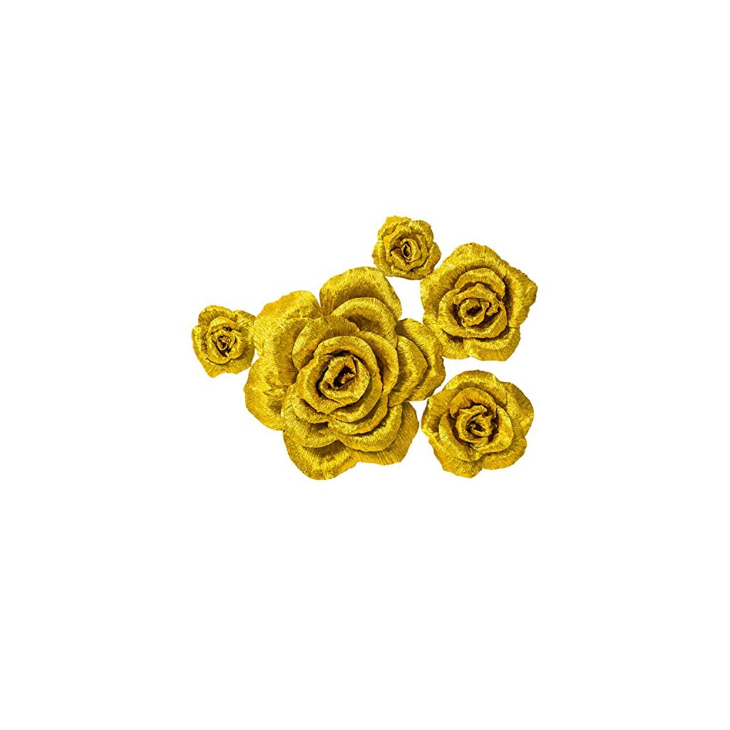 5-Large-Crepe-Paper-FlowersHandcrafted-FlowersNursery-WallMetallic-Gold-Rose-Flowerfor-Wedding-Backdrop-Gold-BacheloretteBaby-ShowerPhoto-BackdropGatsby-NurseryArchway-Decor
