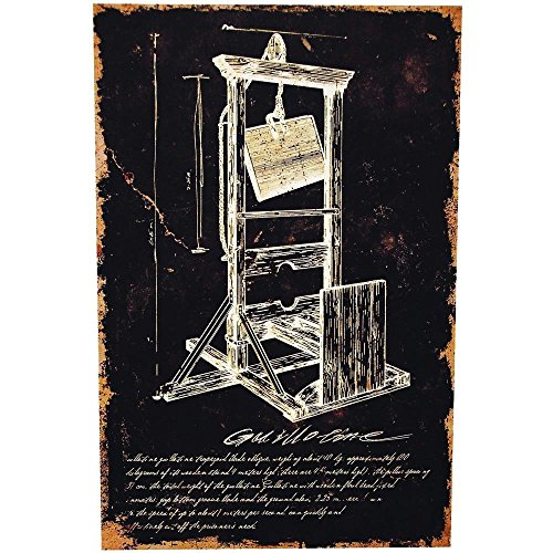 Guillotine Canvas without Frame Halloween Decoration