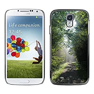 Hot Style Cell Phone PC Hard Case Cover // M00308552 Forest Sun Landscape Nature Tree // Samsung Galaxy S4 S IV SIV i9500