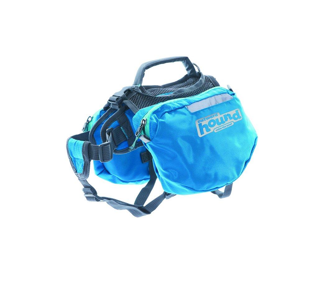 Outward Hound Kyjen  22007 Quick Release Backpack Saddlebag Style Dog Backpack, Small, Blue