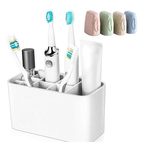 Soporte para cepillo de dientes, soporte de pared para baño ...