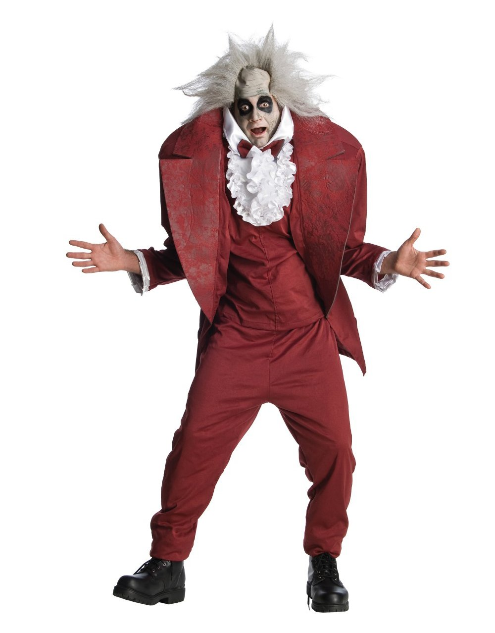 Beetlejuice Costume, Mens Beetlejuice Shrunken Head Costume. Includes the wig!