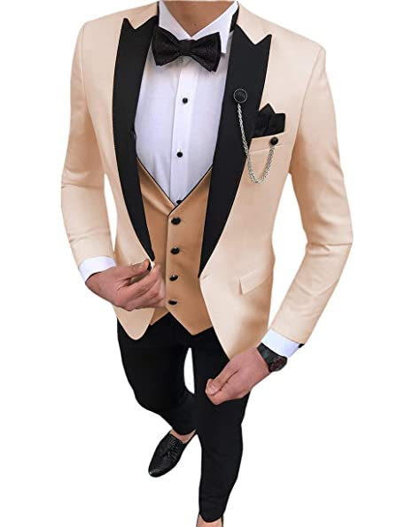 Amazon.com: Aesido - Traje formal para hombre de corte ...