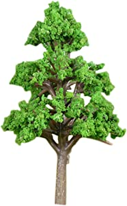 VOSAREA Miniature Model Trees Fairy Garden Landscape Plant Pine Tree Model Train Scenery DIY Craft Garden Ornament (Middle)