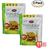 Fiber Gourmet, Thinables, Low Carb Crackers, 6 Oz. (Jalapeno Cheddar)