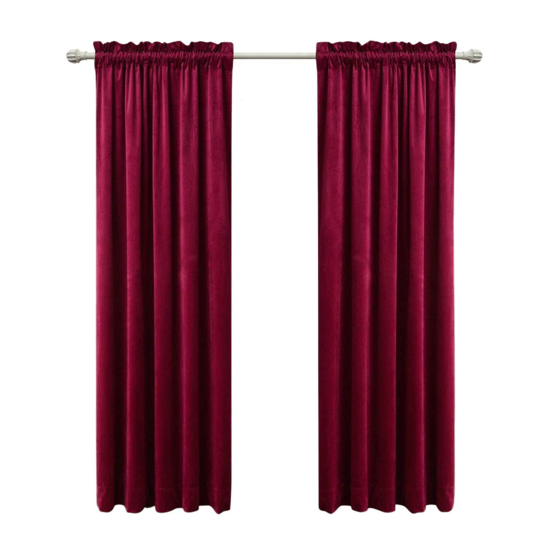 Sideli Solid Rod Pocket Matt Heavy Velvet Curtain