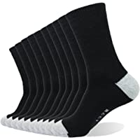Enerwear 10P Pack Men's Cotton Moisture Wicking Extra Heavy Cushion Crew Socks
