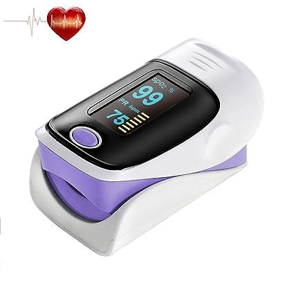 Oxímetro de pulso para dedo, medidor digital de sensor de pulso y de oxígeno en sangre, ...