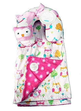 Amazon.com: Manta reversible para bebé con almohada de viaje ...
