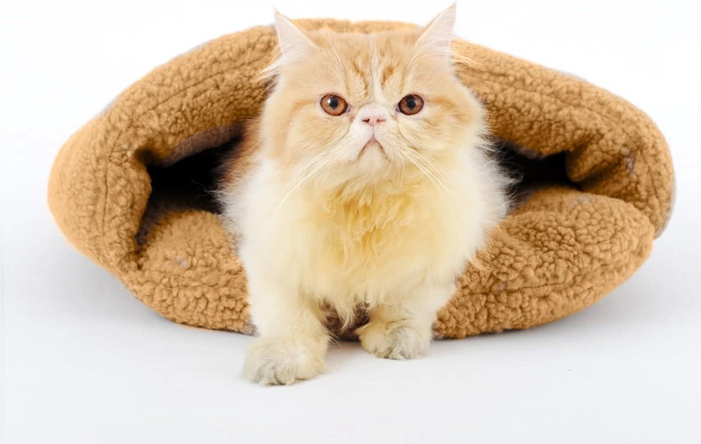 Size M . Bettli Slipper-Shaped Washable Pet Bed Soft Dog House Cotton Cat Sleeping Bag
