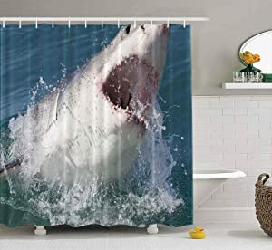 Musesh Shower Curtains,Wide Shower Curtains,78X72 Inch Shower Curtain with Hooks for Bathroom Great White South Africa