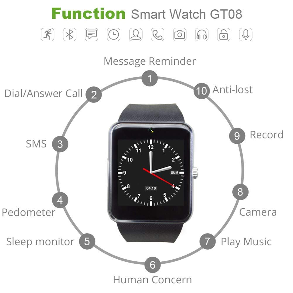 HCWF Smart Watch Plus Correa metálica Bluetooth Reloj ...