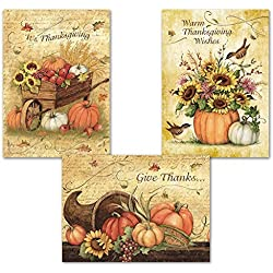 Harvest Thanksgiving Greeting Cards - Set of 6 (2 of each)