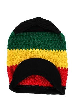 Streetwear Special Dreadlocks Rasta Strip Reggae Beanie Ski Hat Cap ... ed3f00939fc3