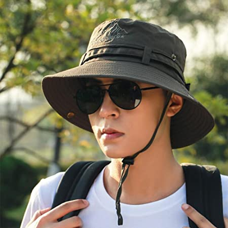a7ea341d1d5 CJC Bucket Hats Sun Hat Wide Brim Summer UV Protection Packable Hiking  Camping Fashion Outdoor Fishing Travel Breathable Adjustable  Amazon.co.uk   Kitchen   ...
