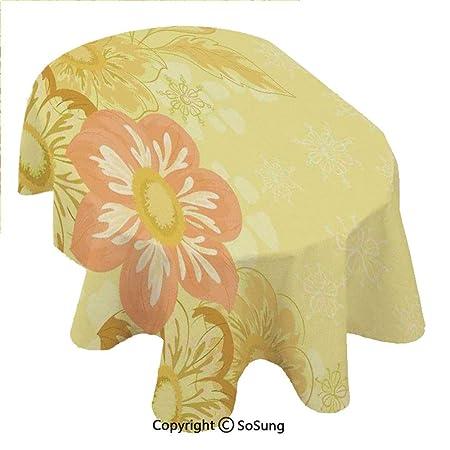SoSung Mantel de poliéster Ovalado para decoración de persianas de ...