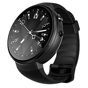 PINCHU Z28 4G Reloj Inteligente Android 7.0 1GB + 16GB 580Mah GPS WiFi Llamada De Mano Llamada Smartwatch Podómetro De Ritmo Cardíaco para Xiaomi,Black: ...