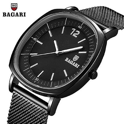 Hermosos Relojes No Data/nuevos Hombres Reloj Deportivo Reloj de Malla cinturón Slim Azul: Amazon.es: Relojes