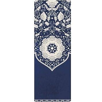 Xportor Tapis Yoga Mince Imprime Antiderapant En Caoutchouc Naturel