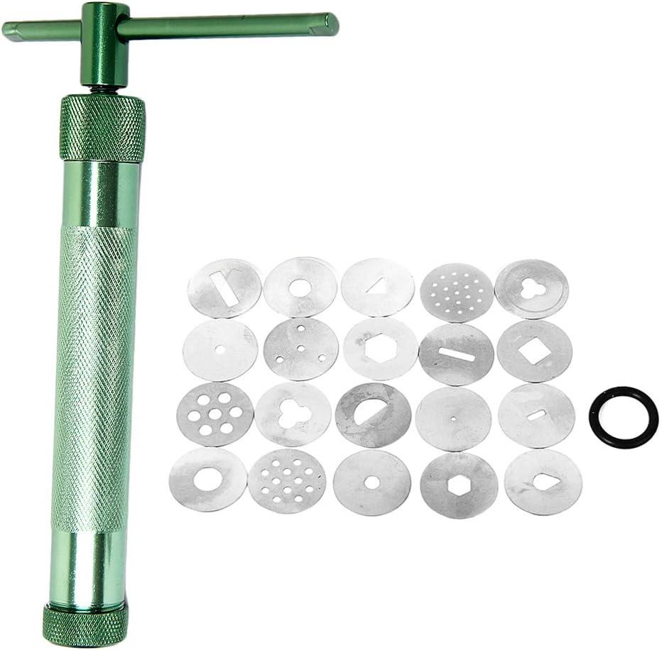 Clay Extruder Craft Machine with 20 Extrusion Discs Cake Sugar Craft Decorating Tool