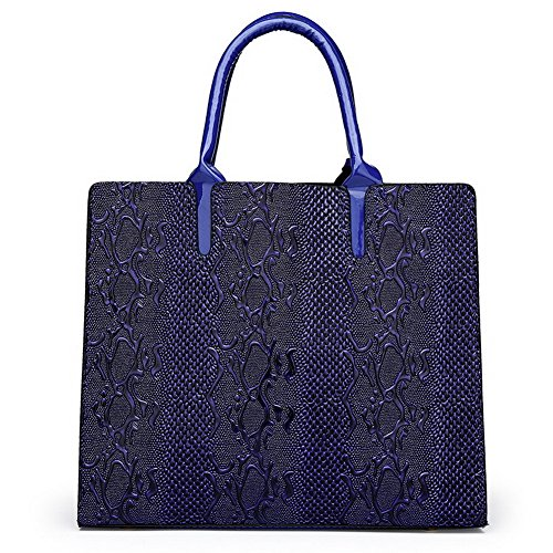 Borse Weekend Manico Azzurro Cerniere A Fughe Superiore Donna Spalla borse Voguezone009 q8wYtaa