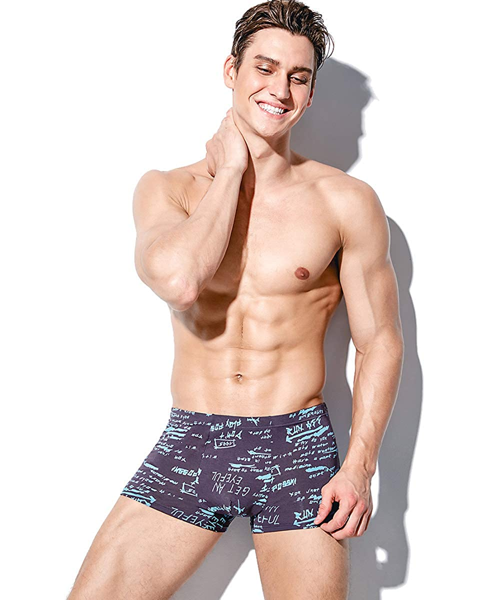 YOULEHE Mens Underwear Soft Bamboo Boxer Briefs Stretch Trunks Pack