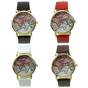 New vintage earth world map watch alloy women men analog quartz new vintage earth world map watch alloy women men analog quartz wrist watches gumiabroncs Image collections